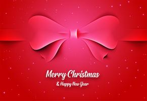Carte de Noël avec un arc