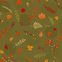 Modèle d'automne sans couture abstraite