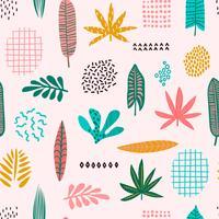Motif sans soudure de feuilles abstraites