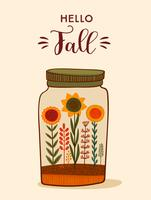 Bonjour la carte d'automne