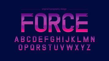 Typographie Sports Résumé Neon Chrome
