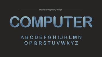 Typographie arrondie numérique à gradient simple