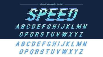 Typographie de sport Blue Speed Motion