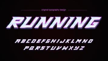 Typographie abstraite chrome de sports de vitesse