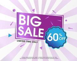 Fond de bannière moderne grande vente violet