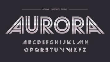 Typographie de sports rétro en acier chromé