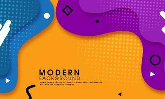 Abstrait jaune moderne avec des formes fluides