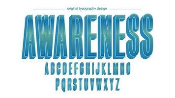 Typographie Vintage bleu-vert gras