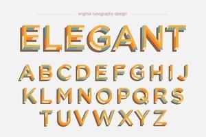 Typographie colorée rétro gras