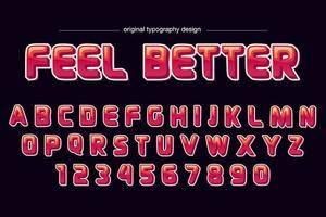 Typographie de dessin animé rouge