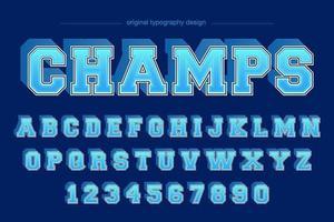 Typographie d'équipe du bleu Varsity College
