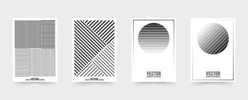 Modèle de couverture de brochure blanche