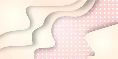 Effet de papier découpé avec motif à pois rose et blanc