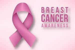 Affiche du mois de sensibilisation au cancer du sein vecteur