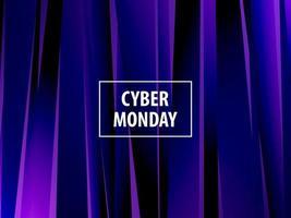 Bannière abstraite d'explosion moderne. Cyber lundi. vecteur
