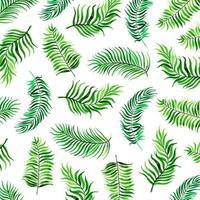 aquarelle fond de feuilles tropicales vecteur