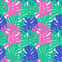 Modèle tropical sans soudure. Ornement de plantes exotiques de l'été.