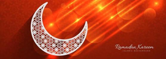 Beau modèle de Ramadan Kareem de Fiery Moon vecteur