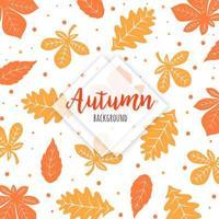 Motif feuilles d'automne orange et jaune