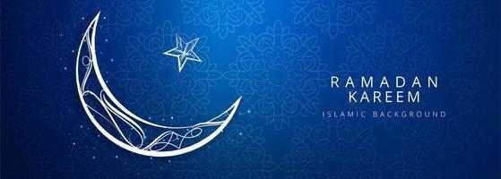 conception de lune bleue ramadan kareem vecteur