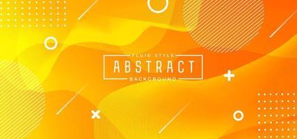 Fond abstrait orange fluide vecteur