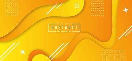 Fond abstrait jaune fluide vecteur