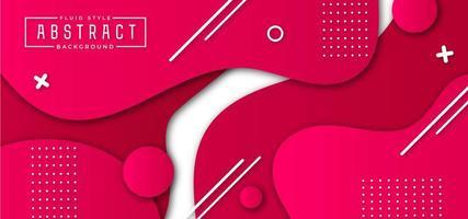 Bannière géométrique rose vecteur