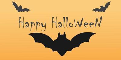 Heureux fond orange Halloween