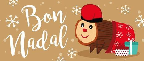 Bannière Caga Tio de Nadal vecteur