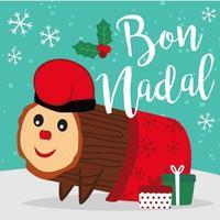 Modèle de bannière Caga Tio de Nadal vecteur