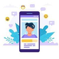 Illustration de concept de technologie de reconnaissance de visage
