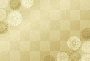 Carte d'or du nouvel an japonais vecteur
