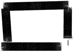 Cadre rectangle peint avec un rouleau à peinture.