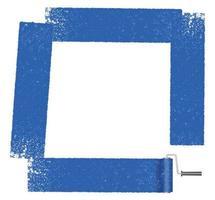Cadre carré peint avec un rouleau à peinture.