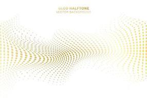 courbe d'onde en or déformer le motif de points vecteur