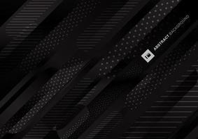 couleur noire modèle fond de lignes de dégradé liquide vecteur