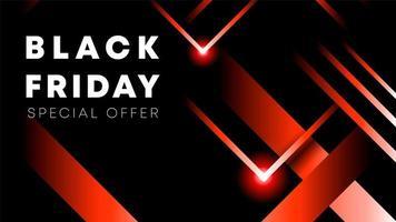 Modèle de conception inscription vente vendredi noir. Bannière Black Friday