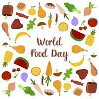 Journée mondiale des fruits et légumes vecteur