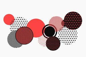 Modèle de forme abstraite géométrique noir et rouge vecteur