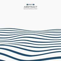 Abstrait bleu foncé ondulé rayures op art de fond