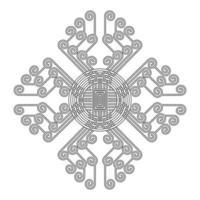 Modèle de mandala indien vecteur