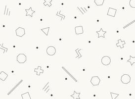 Modèle abstrait de formes géométriques rétro noir et blanc