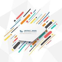 Motif abstrait coloré lignes et formes
