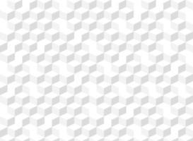 Modèle sans couture abstrait 3d cube dégradé gris vecteur