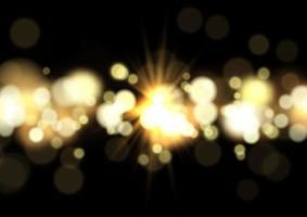 Lumières de bokeh et fond d'étoile vecteur