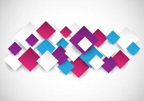 Design de carrés de style 3d multicolores vecteur