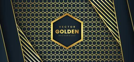 Fond de luxe avec des rayures et motif doré