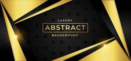 Fond de luxe avec des formes de triangle d'or