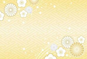 Modèle de carte de nouvel an japonais vecteur