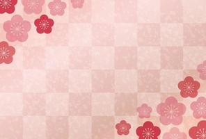 Carte du nouvel an japonais vecteur